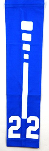 (Sports Farm New! Custom Number Moisture Wicking Compression Arm Sleeve (Royal/White, Youth Large))