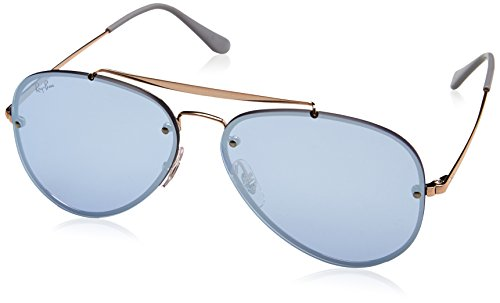 Ray-Ban Blaze Non-Polarized Iridium Aviator Sunglasses, Bronze, 58 - Aviator Ban Original Ray