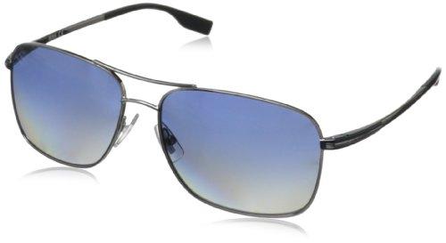 Boss By Hugo Boss Men's B0581PS Rectangular Polarized Sunglasses,Ruthenium,59 - Men Boss Sunglasses For