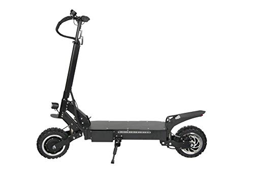 igh Speed Commuting Electric Scooter -Portable Folding, Detachable Seat,55 MPH and 55 Miles Range of Riding, 3200W Motor Power and 390lb Load (Black) ()