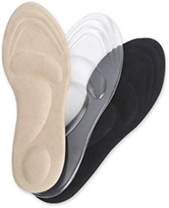 nbvmngjhjlkjlUK 1 Paar stoßdämpfende Frauensportmassage Atmungsaktive Silikongel-Einlegesohlen Fußgewölbe Orthopädische Plantarfasziitis (transparent)