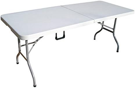 Hosa - Mesa Rectangular 183 x 76 cm Blanca - Mesa Plegable Multifuncional Ultraligera Folding para Cenas, Jardín, Camping, Barbacoas, Eventos o Ferias: Amazon.es: Deportes y aire libre