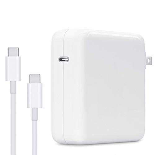 🥇 87W USB C Mac Pro Charger Power Adapter Compatible with Mac Book Pro 15 Inch 13 Inch 2018 2019 2020 with Type C Charge Cable