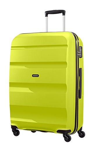 American Tourister Bon Air Spinner L Maletas y trolleys, 75 cm, 91 L, Verde Lemón