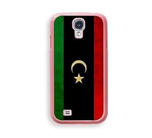 Libyan Flag Pink Plastic Bumper Samsung Galaxy S4 I9500 Case - Fits Samsung Galaxy S4 I9500