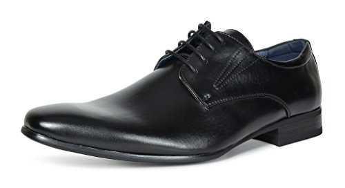 Bruno MARC GORDON-03 Men's Formal Classy Snipe Toe Lace Up Leather Lining Oxford Dress Shoes