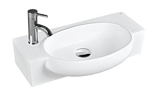 BHD 7003–Lavandino in ceramica, colore: bianco