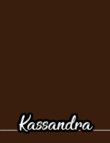 Download Kassandra: 110 Pages 8.5x11 Inches Coffee Pastel Design Journal with Lettering Name, Journal Composition Notebook for Girl pdf
