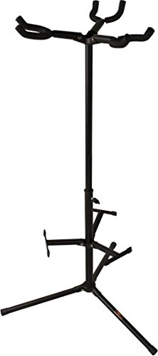 C3 CS-GS3 Triple Guitar Stand with Tripod Base, Black
