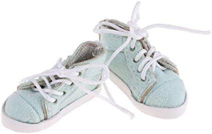 全5色 人形靴 ドールシューズ キャンバス レースアップ 1/6 ブライスドール用 装飾 贈り物 - ライトグリーン