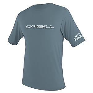 O'Neill Men's Basic Skins UPF 50+ Short Sleeve Sun Shirt,Dusty Blue,X-Large