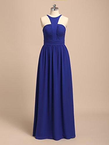 Formal Evening Bridal Gown Purple Alicepub Maxi Dress Party Straps Long Pleated Chiffon wnA1qgES