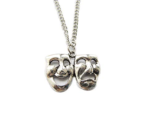 Drama Necklace,Drama Jewelry, Comedy Tragedy, Drama Mask