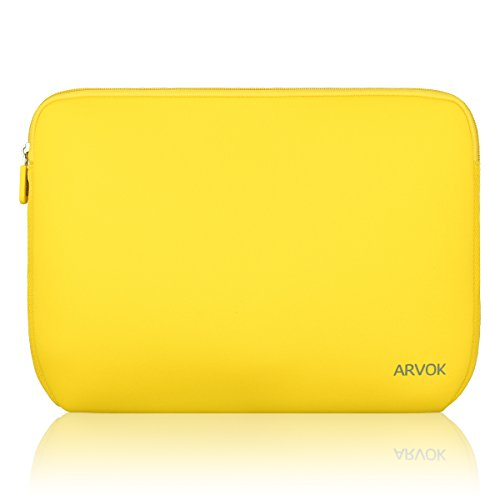 Arvok 15-15.6 Inch Laptop Sleeve Multi-Color & Size Choices Case/Water-Resistant Neoprene Notebook Computer Pocket Tablet Briefcase Carrying Bag/Pouch Skin Cover for Acer/Asus/Dell/Lenovo, Yellow