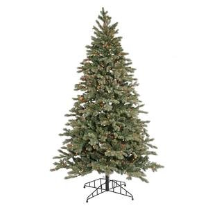 Vickerman 22733 - 7.5' x 52 Blue Balsam Fir 800 Multi-Color Lights Christmas Tree (D115277)