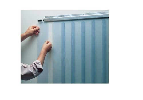 Kason ThermalFlex EASIMOUNT Strip Door 38'' x 84''x 6'' Curtain -40F to 140F.402LA-606-3884 by Kason