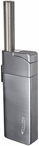 - VECTOR Optimus Soft Flame Pocket Pipe Lighter with Extension (Chrome Satin)