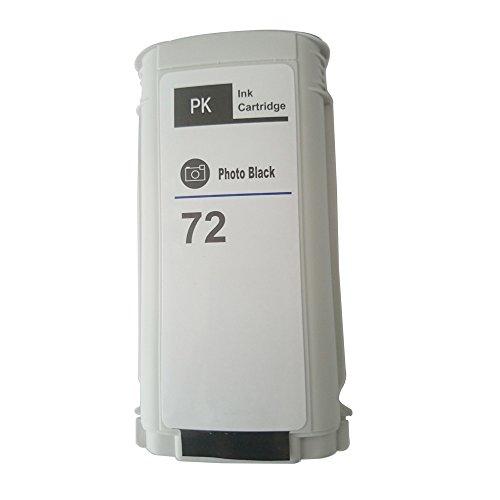 Tyjtyrjty HP 72 Compatible Ink Cartridge Full With 130ML Ink For HP Designjet T610 T620 T770 T790 T795 T1100 T1120 T1200 T1300 T2300 Printer (1x Photo Black) 70 130ml Photo Black Ink
