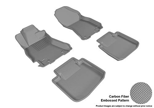 3D MAXpider Custom Fit Complete Floor Mat Set for Select Subaru Legacy/Outback Models – Kagu Rubber (Gray)