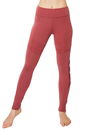 ALWAYS Yoga Pants for Women - High Waisted Mesh Stretch Workout Activewear Leggings Wild Ginger 2XL