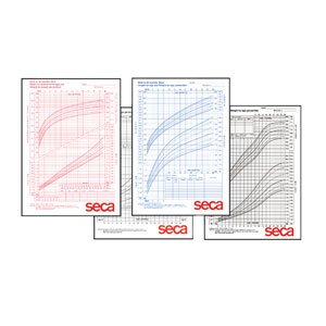 Seca Girls Growth Chart44; Girls 0-36 mos - Pack of 100 by Seca
