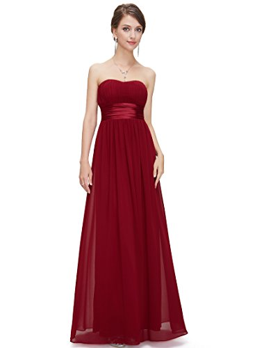 Ever Pretty Womens Simple Empire Waist Bridesmaid Dress 4 US Red