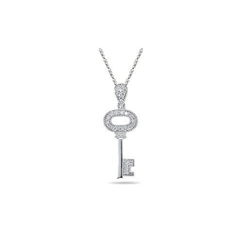 Cts Diamond Key Pendant - 9