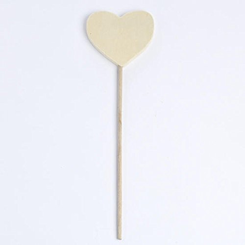 Craft Fairy Wand - Factory Direct Craft Package of 8 Unfinished Wood Fairy Princess Heart Wands - Ready to Decorate