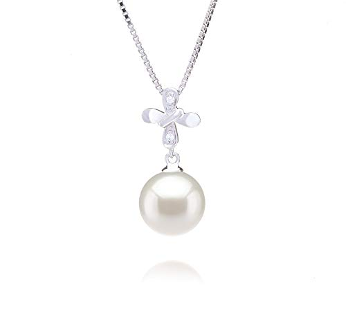 Taylor White 9-10mm AAAA Quality Freshwater 925 Sterling Silver Cultured Pearl Pendant For Women by PearlsOnly (Image #8)