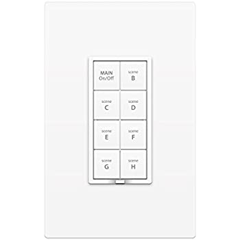 Insteon 2334-222  Smart Dimmer Plus 8-Scene Keypad, Uses Superior Dual-Mesh Wireless Technology for Unbeatable Reliability - Better than Wi-Fi, Zigbee and Z-Wave