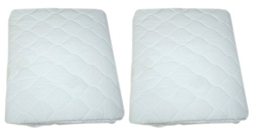 American Baby Company Waterproof fitted Quilted Portable/Mini Crib Mattress Pad Cover, 2-Count (Portable Crib Pad compare prices)