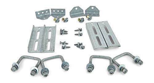 Sturdy Built (4) 8'' Galvanized Swivel Top Bunk Bracket Kit with Hardware for 2x3 Boat Trailer Crossmember by Sturdy Built