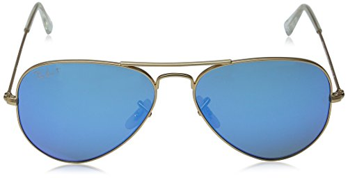 Bleu Aviator Lunettes Soleil Metal de mm Ray 58 Ban RB3025 qqRgZ