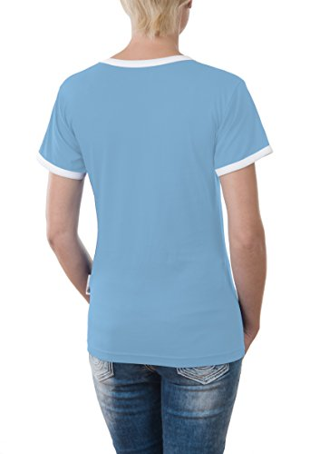 Touchlines T-Shirt BODY BY - Camiseta para mujer Skyblue