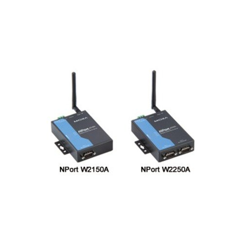 MOXA NPort W2150A-T 1 Port Wireless Device Server, 3-in-1, 802.11 a/b/g WLAN, 12-48 VDC, -40 to 75C