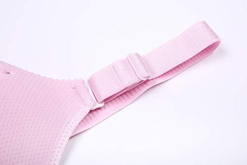 Bra Refago Gather sagging Ring Pregnant Women Front Cup Hole Pink Anti No Steel Buckle Ventilation Breastfeeding rqrRxwt