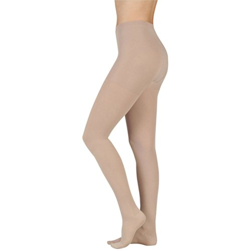 Juzo 2002 Soft Open Toe Pantyhose - 30-40 mmHg Short Cinnamon III Short (Soft Compression Pantyhose Short)