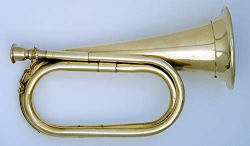 Civil War Era Solid Copper Bugle US Military Cavalry Horn]()