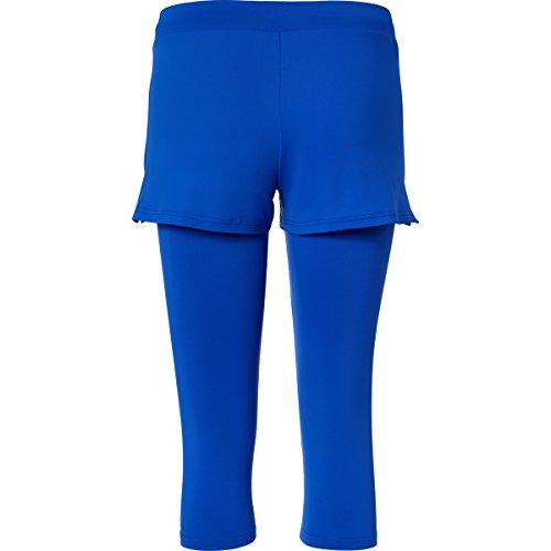 Sportkind Shorts avec leggings intégré de tennis / hockey sur gazon / course à pied pour fille et femme en bleu cobalt tailles 4 ans à XXL