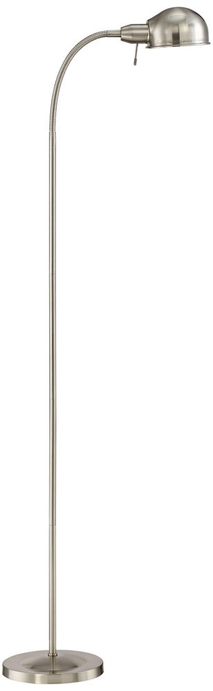 Ridley Satin Nickel Gooseneck Floor Lamp