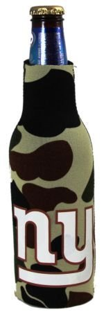 - NEW YORK GIANTS CAMO BOTTLE SUIT KOOZIE COOLER COOZIE