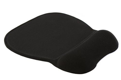 Ergonomic Mouse Pad with Gel/Foam Wrist Support – Cool Design and Prevents Carpel Tunnel Syndrome, - Comfortable and Neat Look for your everyday use (Home/Office/Gaming) - Black