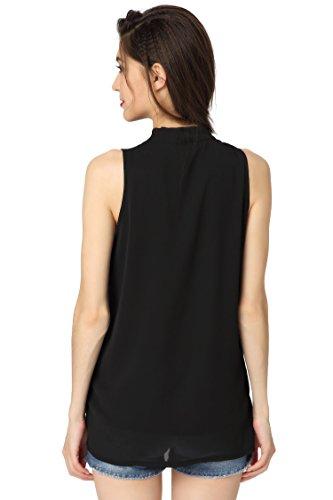 Abollria-Womens-Summer-Chiffon-Sleeveless-Tops-Casual-Blouse-Shirt-With-V-Neck-Bow