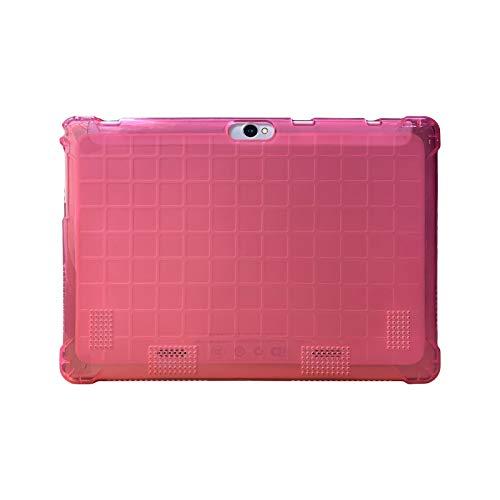 Transwon 10.1 Inch Kids Case Compatible with Ayaprak 10, Foren-Tek 10.1, Hoozo HZ0010W, Yuntab K107, YELLYOUTH 10.1, Dragon Touch K10, BeyondTab 10.1, TenYiDe 10.1, KUBI 10, LLLtrade 10.1 - Magenta