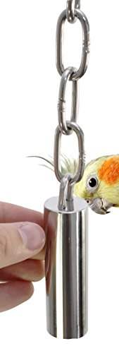 (Bonka Bird Toys 1642 Small Stainless Steel Bell Bird Toy Parrot cage Toys Cages Parakeet Conure.)