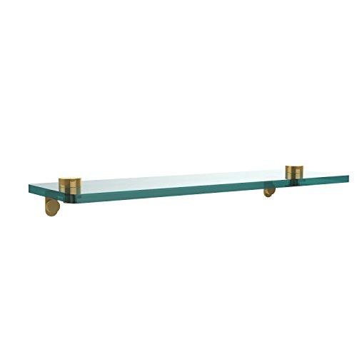 Shelf Polished Brass Allied - Allied Brass NS-1/16-PB 16 Inch Glass Vanity Shelf with Beveled Edges Polished Brass