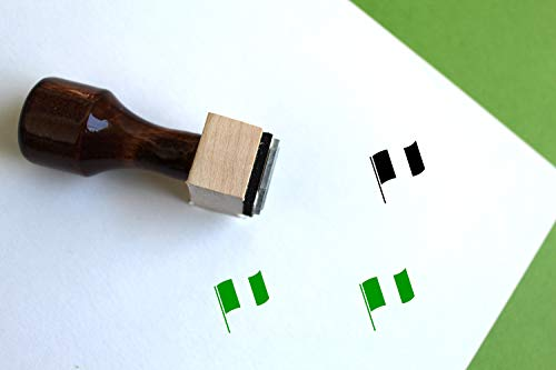 Nigeria Flag Rubber Stamp (1/2