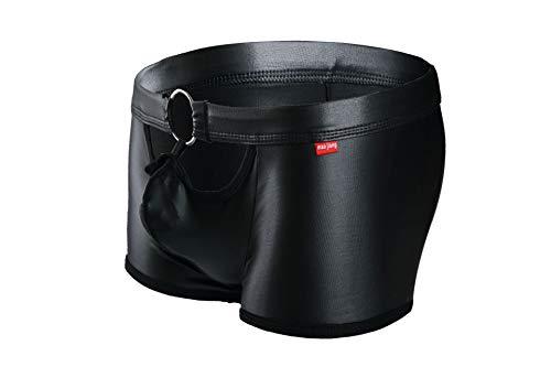 Pour Black Pantalon Alliage Avec Pantalons Hommes En Pu Noir À Un Angle Et Plat Yuch 56nFwgg