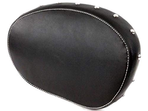 (Leather Black Studded Passenger Sissy Bar Backrest Pad for 2014-2019 Indian Motorcycles Like Chieftain Chief Springfield ref 2879666-02)