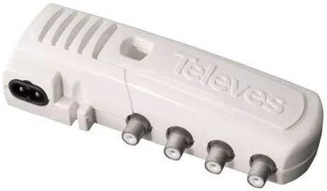 Televes 552340 - Amplificador vivienda 4s+tv f 47 790mhz g16db